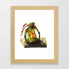 Tortue ninja PIZZA Framed Art Print