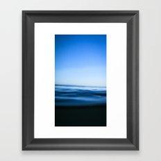 Malibu Blue Framed Art Print