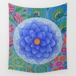 Violet Flower Mandala Wall Tapestry
