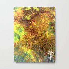 Primordial Original Abstract Painting, Mixed Media Canvas Contemporary Artwork, Close Up Photograph Metal Print
