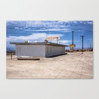 cafe Canvas Prints featuring cafe by petervirth photography