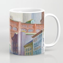 New York City Elevated Railroad, Looking Towards Lower Manhattan Coffee Mug