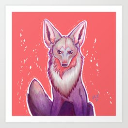 Colorful Coyote Art Print