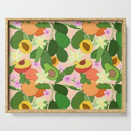Avocado + Peach Stone Fruit Floral in Nectarine Serving Tray