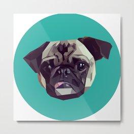 "Pug Graphic Design. ""Bijou"" Metal Print"