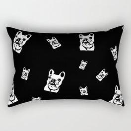 French Bulldog Black White Rectangular Pillow