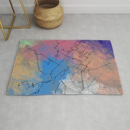 Architecture landscape art style contemporary view Rug