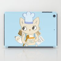 baking iPad Cases featuring Cat is baking a Cake by Camart