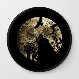 Lonewolf Lycan Dreaming 1 Wall Clock