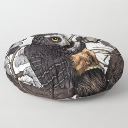Spectacled Owl Floor Pillow
