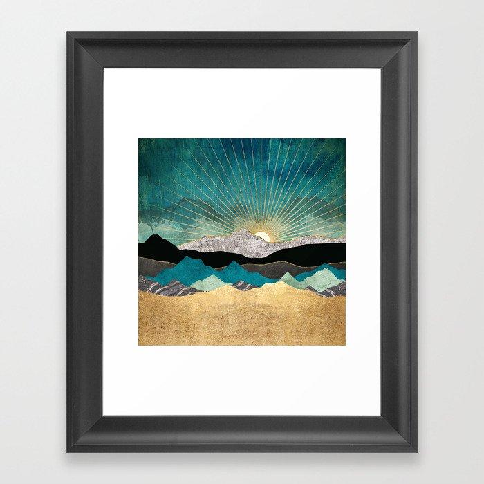 Peacock Vista Gerahmter Kunstdruck
