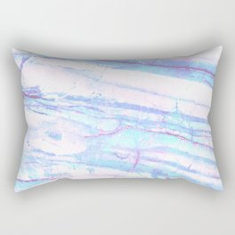 Pastel Marble with Blue Green Purple Rectangular Pillow