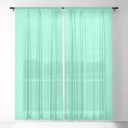 color aquamarine Sheer Curtain