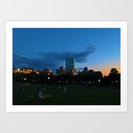 Boston Common Sunset Art Print
