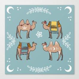 Camel Beauty Contest Mandala Canvas Print