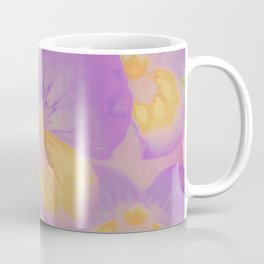 Pansies, The Earth Laughs In Flowers Coffee Mug
