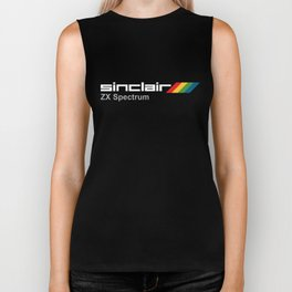 Sinclair Spectrum Mens Retro 80s Video Game Ata-ri pirate Biker Tank
