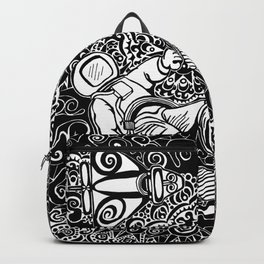 Artifiction Black and White Backpack