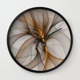 Elegant Chaos, Abstract Fractal Art Wall Clock