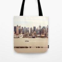 nyc Tote Bags featuring NYC by Enkel Dika