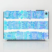 tiki iPad Cases featuring Tiki Totems – Turquoise Palette by Cat Coquillette