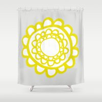sunflower Shower Curtains featuring Sunflower by Dream Of Forest
