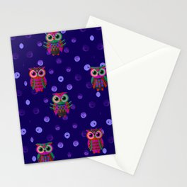 Owl pattern6 Stationery Cards
