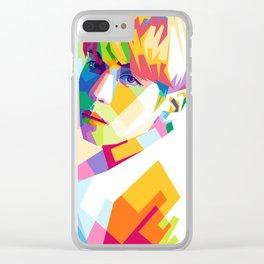 Kim Jong Hyun In Pop Art Clear iPhone Case