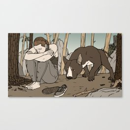 Dog bff Canvas Print