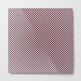 Tawny Port and White Polka Dots Metal Print