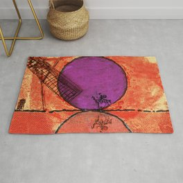 Don Quixote and the backlands of Brazil Rug