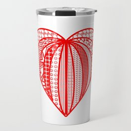 red heart . artlove Travel Mug