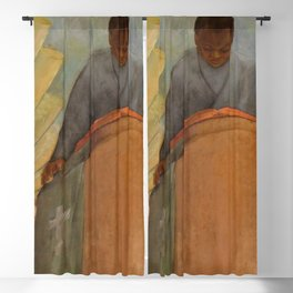 African American Masterpiece WPA Mural Harlem Hospital - Faith - The Pursuit of Happiness No. 3 Blackout Curtain