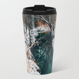 Winter river mirror Travel Mug
