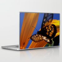 transparent Laptop & iPad Skins featuring Transparent Butterfly by Donuts