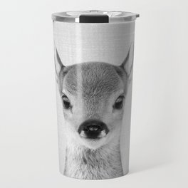 Baby Deer - Black & White Travel Mug
