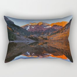 The Wonderful Maroon Bells in Autumn Rectangular Pillow