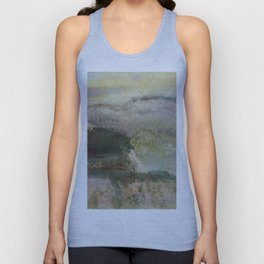 Landscape With Hills 1890 By Edgar Degas | Reproduction | Famous French Painter Unisex Tank Top