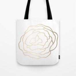 Flower in White Gold Sands Tote Bag