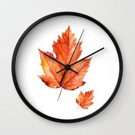 Autumn Maple Leaves Wall Clock