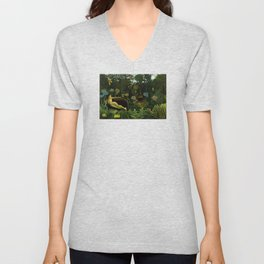 Henri Rousseau - The Dream Unisex V-Neck