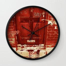 Bloody Cross Door Wall Clock