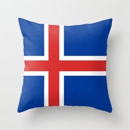 Flag: Iceland Throw Pillow
