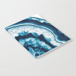 Blue White Agate #1 #gem #decor #art #society6 Notebook