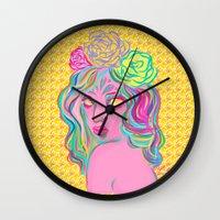 avatar Wall Clocks featuring Avatar by Hannah  Aryee