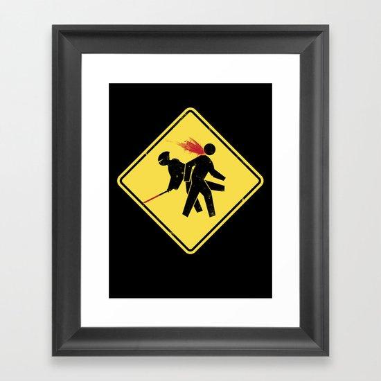Ninja X-ing Framed Art Print