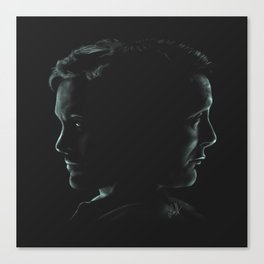 """Hannibal & Will - """"You and I have begun to blur"""" Canvas Print"""