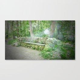 Fairy Bench Canvas Print