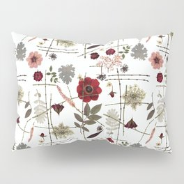 Red Anemones and Roses Pillow Sham