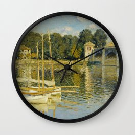Claude Monet  -  Le Pont Dargenteuil Wall Clock